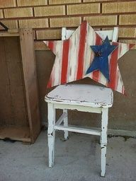 patriotic crafts....I would probably do the red and white star one color.