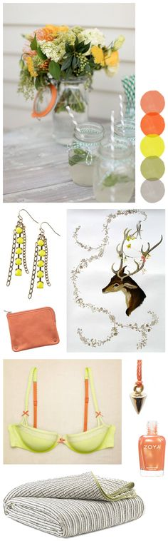 Color Crush: Citron + Tangelo - Home - Creature Comforts - daily inspiration, style, diy projects + freebies
