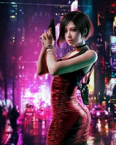 Evil Pictures, Albert Wesker, Resident Evil Girl, Ada Wong, Mileena, Shes Perfect, City Background, Video Game Characters, Beauty Women