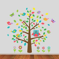 This owl and birds tree wall sticker will transform any child's bedroom or nursery into a wonderful woodland scene, it can also be personalised.Our owl tree wall sticker set is available in three colour variations; multi-coloured, blue and red, pink and purple – please refer to the product images for examples of each colour variation. Our owl tree wall sticker can be personalised by adding our wooden sign wall sticker for a reduced price. This then allows you to add a name, nickname or…