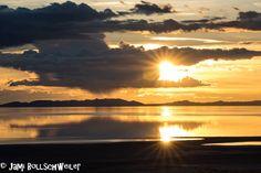 Sunset at Antelope Island State Park, utah