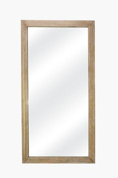 This light wood mirror is perfect for any cm Decor, Rectangular, Mirror Wall Art, Decor Online, Mirrors Online, Home Decor Shops, Mirror, Buy Wall Art, Standing Mirror