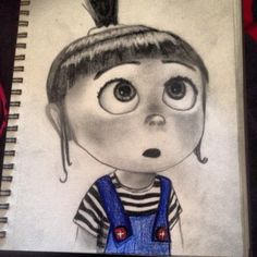 Agnes!! So happy I finished her! Drawn in pencil and prisma colors:) she is so cute