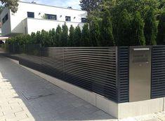 Best Ideas for Different Types Of Garden Fence Panels Designzaun Magnus - super- Entrance, Entrance Gates, Gate Design, Modern Garden, Front Garden, Modern, Garden Design, Fence Design, House Front