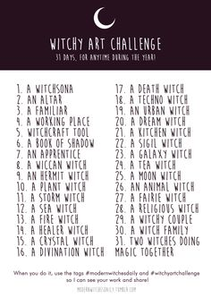 "modernwitchesdaily: ""WITCHY ART CHALLENGE ✨ Summer is coming and here is for you, all witch artist/writer of this world, a Challenge with only witchy stuff to draw or write about! You can do whatever you want with it, whenever you want! It's just a..."