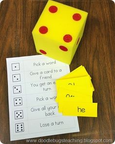 Small Group Idea-put the sight words in a word chart.   Five for Friday {Linky Party.. September 26th} http://doodlebugsteaching.blogspot.com/