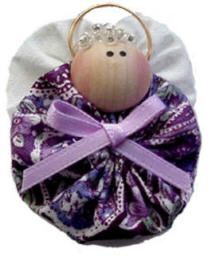 cute angel pin made of yo yos with tutorial and poems to send along with her for any occasion!
