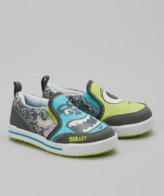 Love this Blue & Green Disney™ Monsters, Inc. Slip-on Sneaker on #zulily! #zulilyfinds