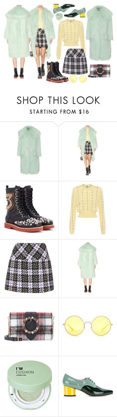 """Get the Look"" by cherieaustin ❤ liked on Polyvore featuring Miu Miu, Ray-Ban, Forever 21 and Lenora"