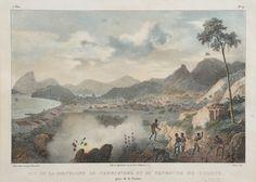 RUGENDAS, Johann Moritz (1802 - 1858) Vue de Rio de Janeiro tomada da Igreja da Gloria