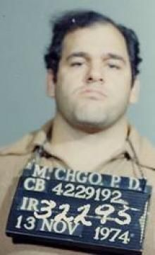 Frank Calabrese Jr. put his father, pictured, in jail for life (Mobster Confessions, Discovery Channel).