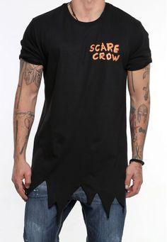 scarecrow black #vagrancylifestyle #handmade #tops #man Mens Tops, T Shirt, Handmade, Black, Women, Fashion, Hand Made, Moda, Tee Shirt