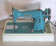 Vintage Blue Precision Sewing Machine Super Deluxe Model 1305 | eBay