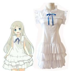 Anime Anohana The Flower We Saw That Day Cosplay Costume Honma Meiko Menma White Dress Anohana, Princess Zelda, Disney Princess, Animal Crossing, Dress Brands, Cosplay Costumes, Anime, Aurora Sleeping Beauty, White Dress