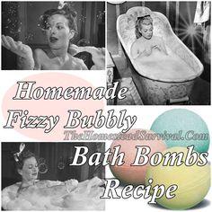 Homemade Fizzy Bubbly Bath Bombs Recipe