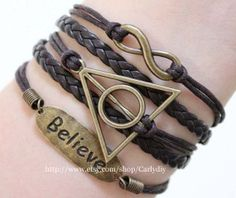 Infinite believe  harry potter deathly hallows by Carlydiy on Etsy, $4.29