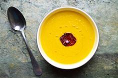 Mrkvová polévka   THINK FOOD Think Food, Pudding, Desserts, Soups, Tailgate Desserts, Deserts, Custard Pudding, Puddings, Postres