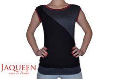 Shirt schwarz  Streifen  von Jaqueen auf DaWanda.com