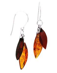 Honey & Cherry Amber & Sterling Silver Earrings