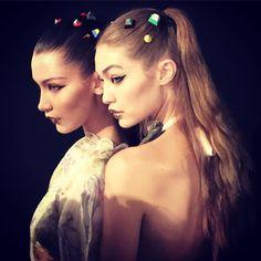 A beleza da Fendi: glitter nos lábios e studs nos cabelos