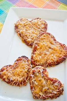 """Heart Shaped Pizza ~ via this blog, """"Cooking with Mel""""."""