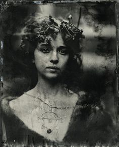 Kristen Hatgi / Jillian for The Woods / Wet Plate Collodion / 2012 Black And White Portraits, Black And White Photography, Vintage Photography, Portrait Photography, Photography Lighting, Old Photos, Vintage Photos, Julia Margaret Cameron, Wet Plate Collodion