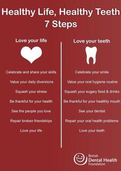 Healthy Life, Healthy Teeth. 7 Steps