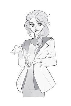 Sketch - Elsa by charlestanart on DeviantArt Frozen Elsa And Anna, Disney Frozen Elsa, Disney Princess, Frozen Anime, Disney High, Disney Pocahontas, Jelsa, Freezing Anime, Frozen Drawings