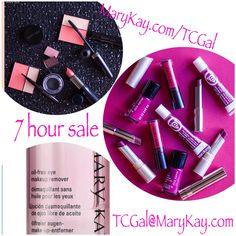 Sunday 7 hour sale! Shop with me at MaryKay.com/TCGal and place your order directly with me by 8:15 pm EST TODAY 9/27/15 by emailing me at TCGal@MaryKay.com to receive 50% off of your order (excludes repair volu-firm skin care line) Follow me and place your order on FB using Mary Kay by TCGal // #MaryKay // #beauty // #SundayFunday // #50% off sale // #cosmetics // #skin care // #makeup // #glowingwithsuccess