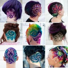 here some of my favs hairdesigns I did this year 😍 to be honest I actually love all of the designs this year , but the collage allowed me… Hair Tattoo Designs, Undercut Hair Designs, Bleached Hair Repair, Wacky Hair, Shaved Hair Designs, Haircut Designs, Rides Front, Hair Tattoos, Crazy Hair