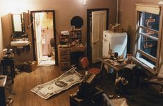"""""""OCCUPIED HOTEL ROOM"""" (1979) 24 x 24 x 16 inches - Alan Wolfson"""