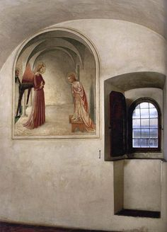 "Annunciation (Convento di San Marco, Florence)"", c.1440, Fra Angelico."