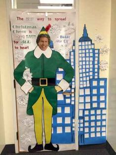 Christmas classroom door decorations- buddy the elf - spreading Christmas cheer! Christmas classroom door decorations- buddy the elf - spreading Christmas cheer! Christmas Cubicle Decorations, Christmas Door Decorating Contest, Elf Decorations, Office Decorations, Decor Ideas, Elf Movie, Christmas Classroom Door, Christmas Elf, Ideas Party