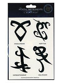 The Mortal Instruments: City Of Bones Runes Temporary Tattoos
