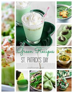 Green recipes for St Patricks Day - Craftionary -I wanted to pin all these recipes not just for St. Patty's Day-Yum!