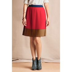 Gatsby Colorblock Skirt from Lands' End Canvas Fall Skirts, Short Skirts, Dress Me Up, I Dress, Accordion Skirt, Color Blocking, Colour Block, Classy And Fabulous, Dress Codes