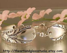 Silver Spoon Bracelet TRIUMPH 1941 Jewelry by theartandglassstudio