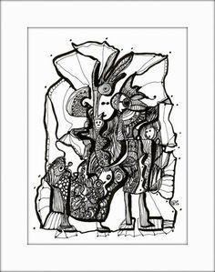 HäkelBild IV von Etelka Kovacs-Koller - mad for art auf DaWanda.com Illustration, Artworks, Mad, Etsy, Art Production, Drawing S, Illustrations, Art Pieces