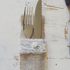 A personal favourite from my Etsy shop https://www.etsy.com/uk/listing/245444554/100-wedding-tableware-bags-hessian-jute