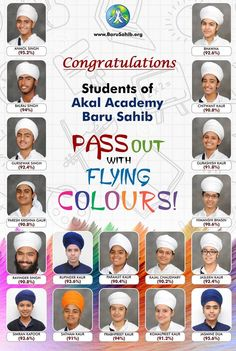 #ProudMoment CONGRATULATIONS Students of Akal Academy BARU SAHIB pass out with FLYING COLOURS! We are more than happy to announce the results of Class XII where the students have achieved an outstanding performance in Academics. 82 students appeared for Grade XII Examination conducted by CBSE. 22% students secured more than 90% marks in aggregate. 96.3% students secured more than 60% marks in aggregate. 68% students secured more than 80% marks in Science Stream