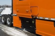 Bolt-Custom-Trucks-150-inch-Platinum-Series-Sleeper-Orange-Truck-Flirt-Skirt-Generator