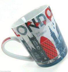 London UK Prima Design Coffee Tea Mug #MichaelMullan #WestminsterAbbey #Gerkin #London #PrimaDesign