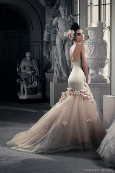 Incredibly flattering chiffon wedding dress- The couture gallery