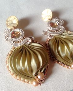 Shibori, Napkin Rings, Swarovski, Drop Earrings, Jewelry, Decor, Jewlery, Decoration, Jewerly