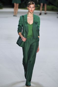 Akris Spring 2013 RTW Collection  pantone 2013 color - emerald!