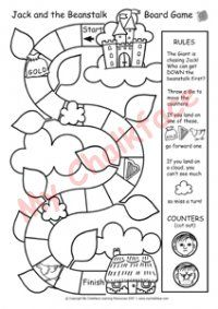 Jack And The Beanstalk Board Game Help Lower Ability With Sequencing Retelling Story