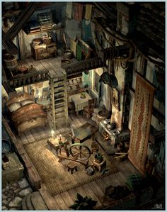 Final Fantasy IX Alexander Town art by Jake Rowell