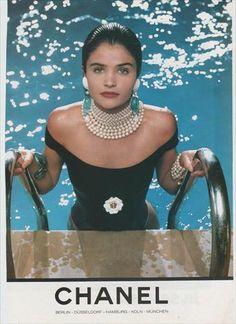 Helena Christensen for Chanel, 1990