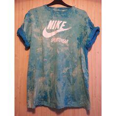 Reworked Tie Dye Seapunk Retro Sports Nike T shirt by DalixStudios, £30.00