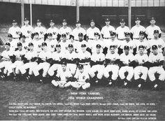 New York Yankees Daily News Reprint of 1956 World Series Team Photo & Headline Team Pictures, Team Photos, Sports Photos, Yankees Team, New York Yankees Baseball, Baseball Teams, World Series Winners, Casey Stengel, Billy Martin